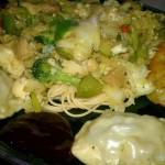 Gluten Chicken Stir Fry + veggie wontons