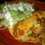 Mexican Casserole and Salad