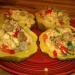 stuffed squash vegan